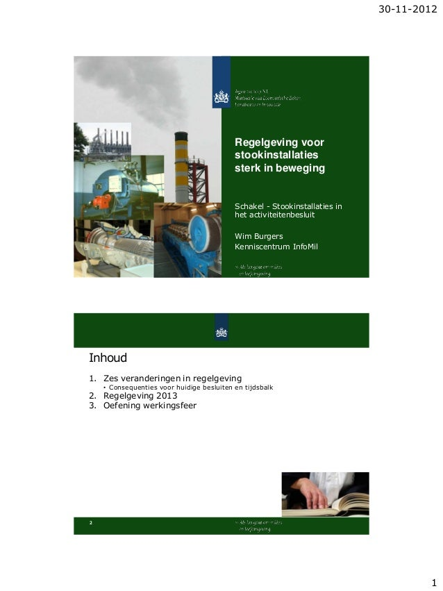 30-11-2012                                           Regelgeving voor                                           stookinsta...