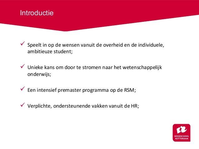 motivatiebrief hogeschool Schakelminor bedrijfskunde (2014) Hogeschool Rotterdam   RSM Erasmus … motivatiebrief hogeschool
