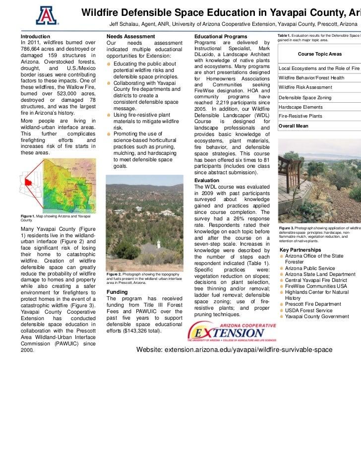 Wildfire Defensible Space Education in Yavapai County, Arizona                                             Jeff Schalau, A...
