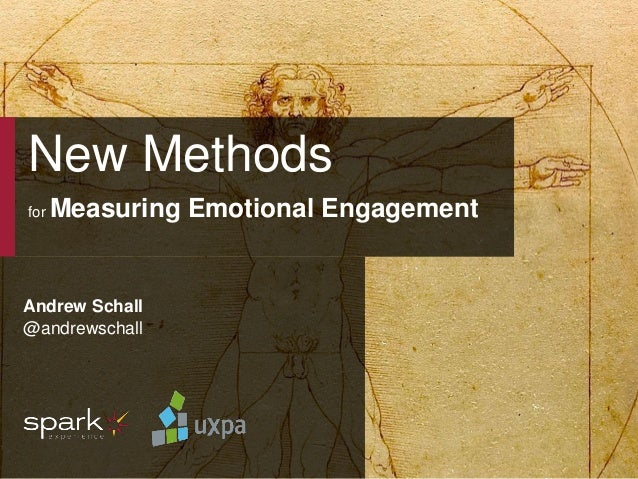 UXPA 2014 New Methods for Measuring Emotion | June 25, 2014 @andrewschall 1 New Methods for Measuring Emotional Engagement...