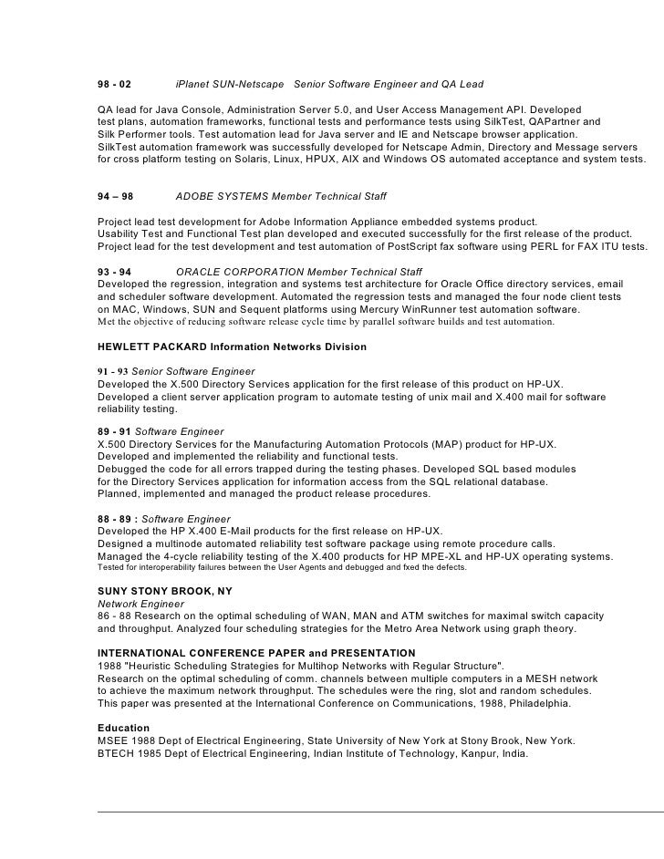 software quality assurance resume entry level senior qa ...