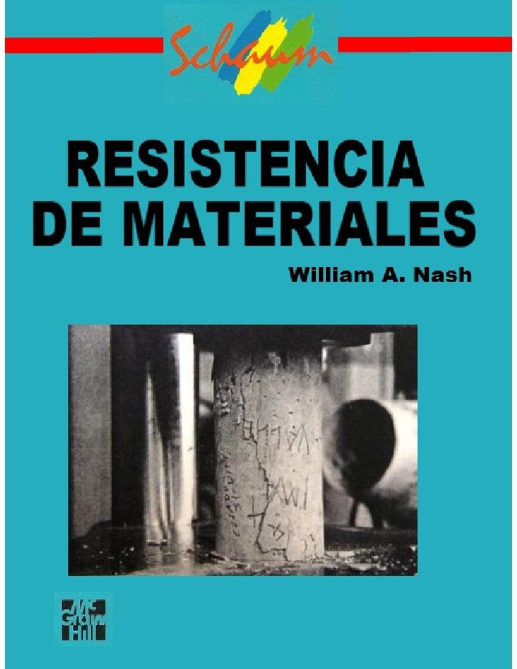 resistencia de materiales william nash pdf descargar