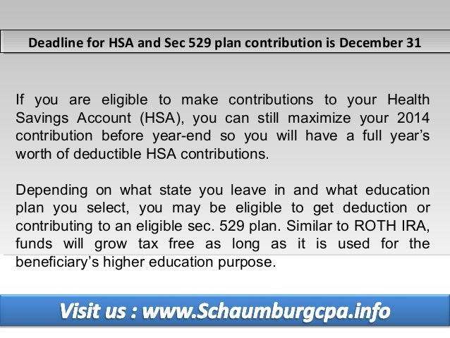 Tax Preparation Service in Schaumburg - 2014 Year End Tax