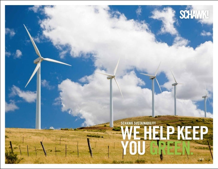 Schawk sustainability we help keep you green