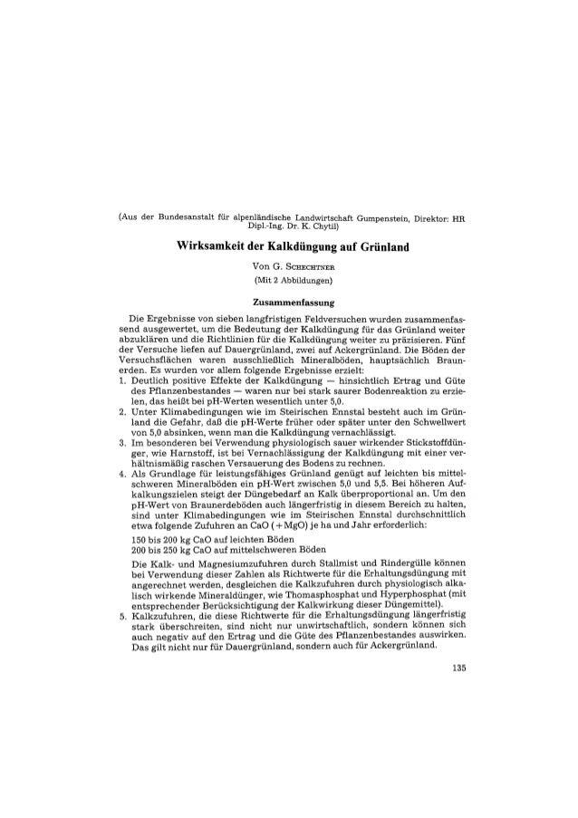 (Aus der Bundesanstalt für alpenländische Landwirtschaft Gumpenstein. Direktor: HR Dipl.-Ing. Dr. K. Chytil) Wirksamkeit d...