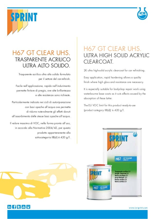 Trasparente acrilico ultra alto solido formulato per il settore del car-refinish. Facile nell'applicazione, rapido nell'in...