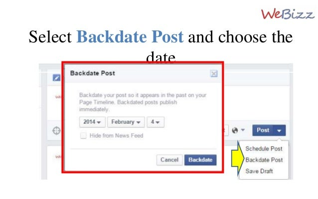 how to make a post appear on timeline