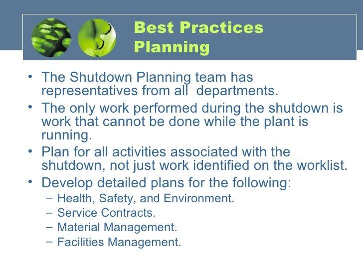 Scheduled Shutdown Maintenance