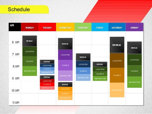 schedule in powerpoint