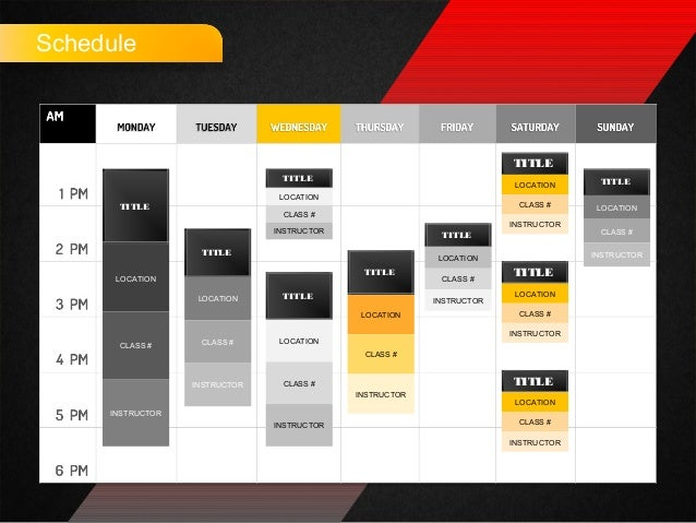 schedule for powerpoint by poweredtemplatecom