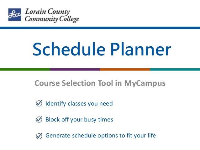 college course schedule planner