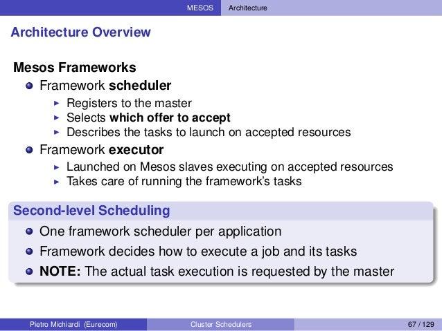 ... 67. MESOS Architecture Architecture Overview ...