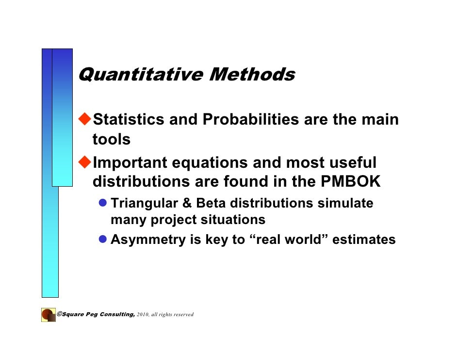 Quantitative Risk Analysis Quantitative Risk Assessment