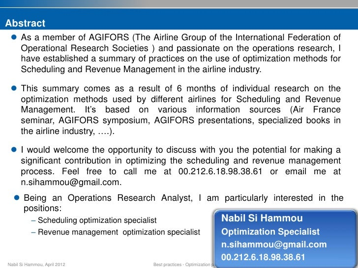 managing operations for airline industry Operations research in the airline industry  business & economics / general business & economics / operations research business & economics / production & operations management mathematics / applied mathematics / optimization technology & engineering / power resources / general .