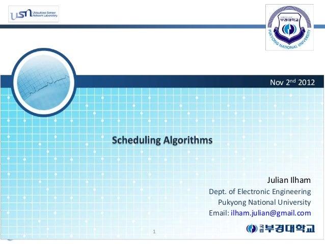 Nov 2nd 2012                     Julian Ilham    Dept. of Electronic Engineering      Pukyong National University    Email...