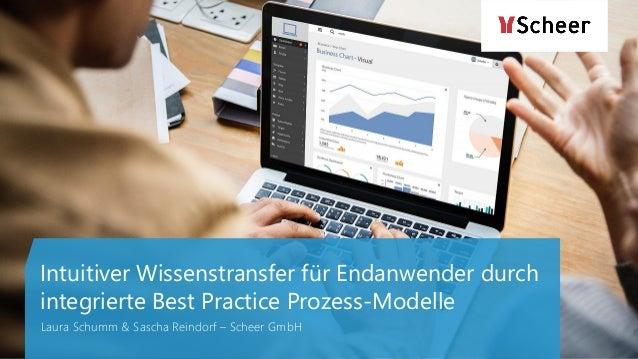 Intuitiver Wissenstransfer für Endanwender durch integrierte Best Practice Prozess-Modelle Laura Schumm & Sascha Reindorf ...