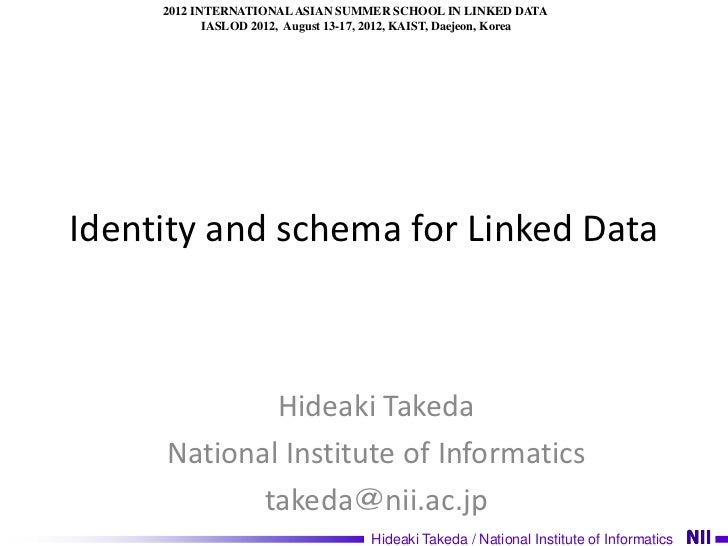 Schema And Identity For Linked Data