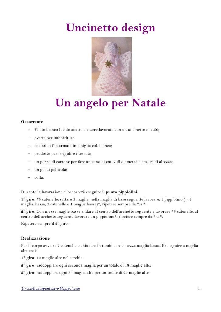 Schema Per Uncinetto Un Angelo Natalizio
