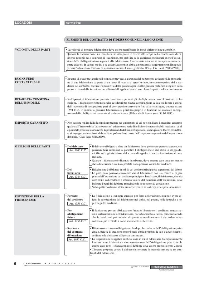 Schema contratto di locazione con garanzia fidejussoria for Contratto di locazione