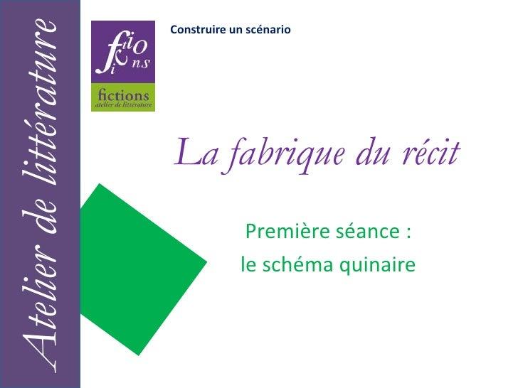 Construire un scénario<br />La fabrique du récit<br />Atelier de littérature<br />Première séance :<br />le schéma quinair...