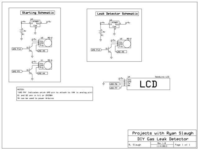 DIY Gas Detector Schematic