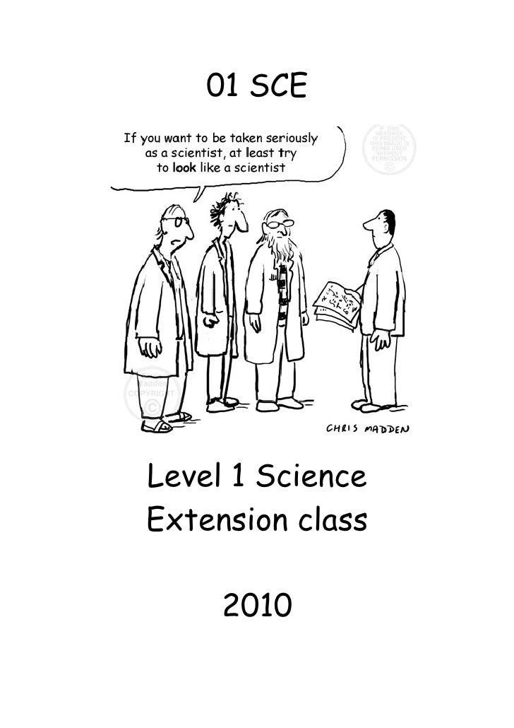 Scheme ncea level 1 extension class 2010 01 sce level 1 science extension class 2010 ncea urtaz Choice Image