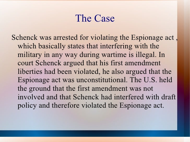 espionage act and the first amendment essay This essay the first amendment and other 63,000+ term papers this case involved the espionage act, which was enacted during world war i.