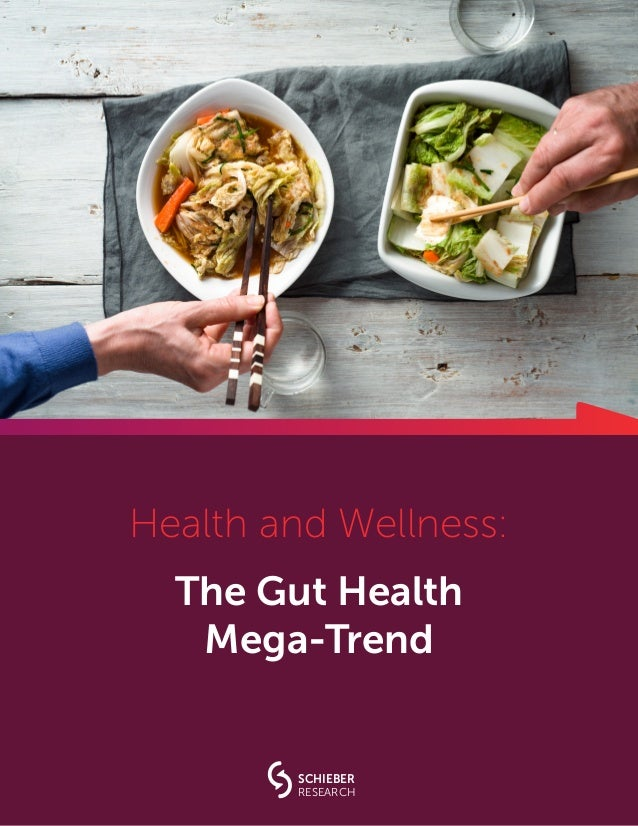 Health and Wellness: The Gut Health Mega-Trend SCHIEBER RESEARCH