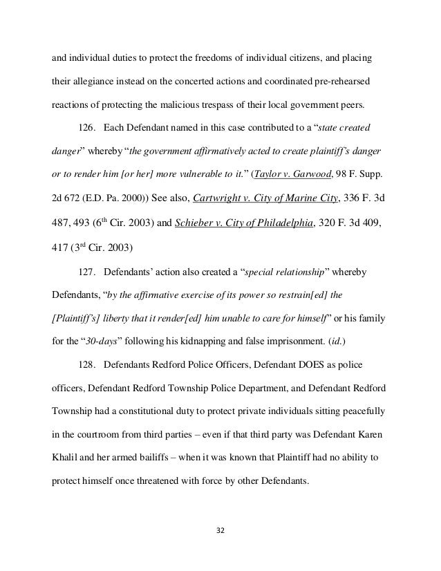 schied courtwatch follow up final prima facea filing district co   individually sworn oaths 32