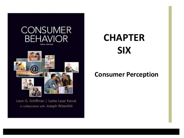 Consumer Perception CHAPTER SIX