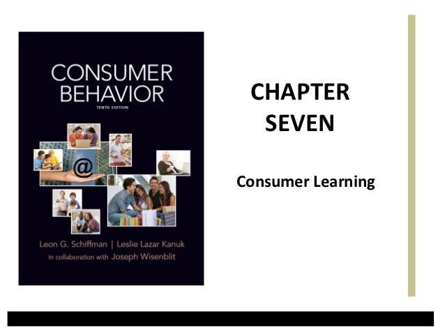 CHAPTER  SEVENConsumer Learning