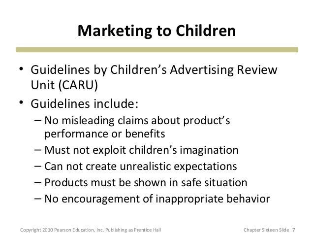 The Children's Advertising Review Unit (CARU)