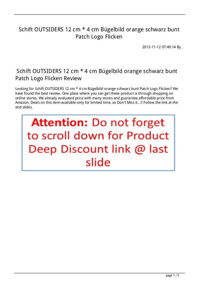 Schift OUTSIDERS 12 cm * 4 cm Bügelbild orange schwarz bunt Patch Logo Flicken 2013-11-12 07:49:14 By .  Schift OUTSIDERS ...
