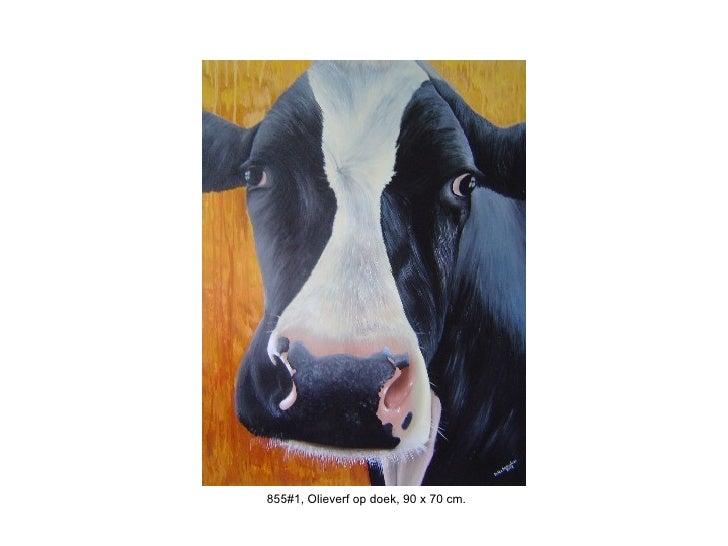 855#1, Olieverf op doek, 90 x 70 cm.