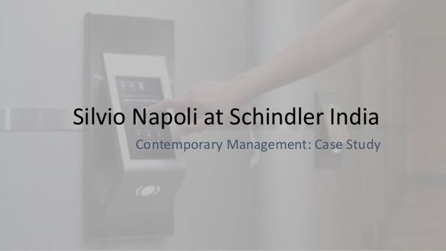 silvio napoli at schindler india solutions