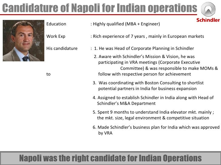 porters five forces silvio napoli at schindler india Silvio napoli at schindler india (a)  the case focuses on difficulties and challenges faced by silvio napoli, general manager at schindler's  five forces.