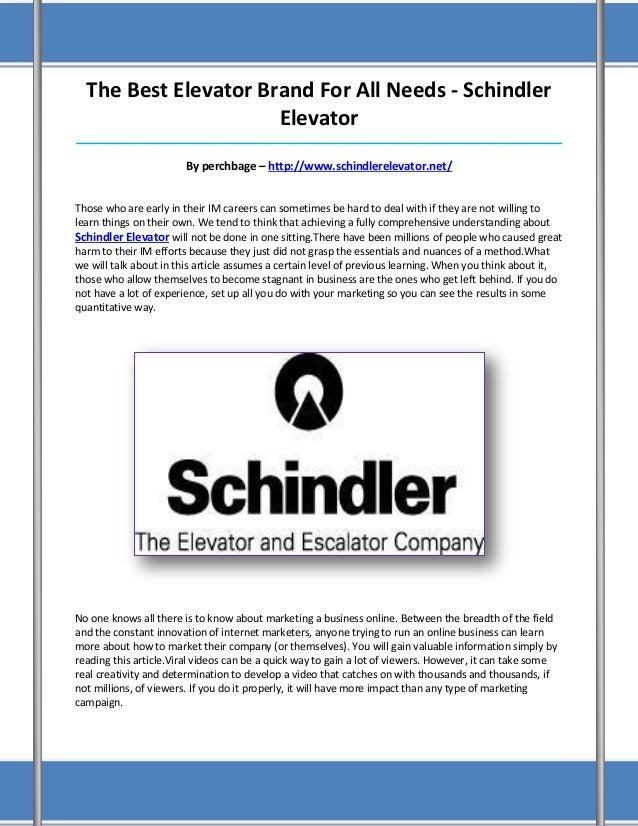 schindler essay