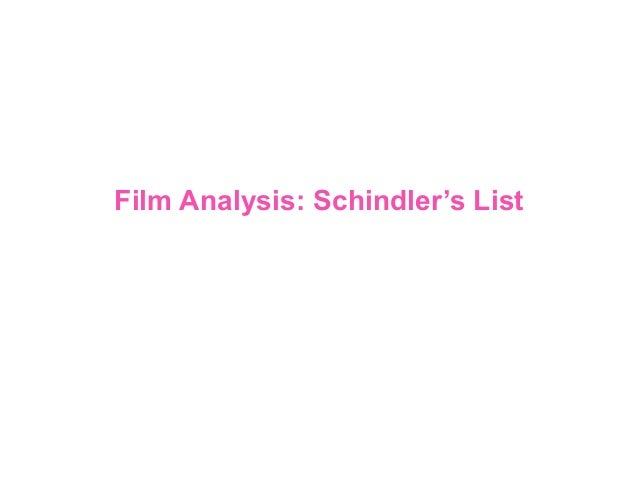 schindler verts number show analytical essay