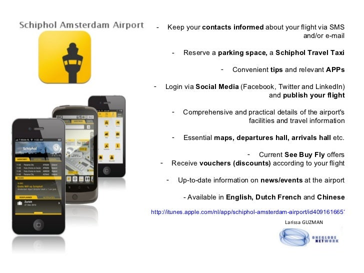 <ul><li>Keep your  contacts informed  about your flight via SMS and/or e-mail </li></ul><ul><li>Reserve a  parking space, ...