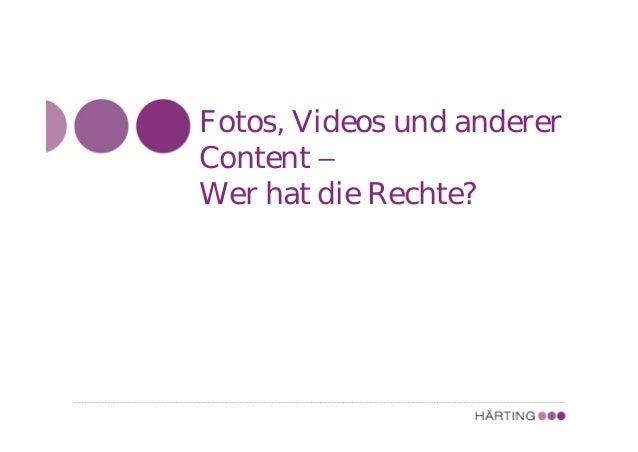 ALLFACEBOOK MARKETING CONFERENCE Gleiche Regeln, wie für die Unternehmenswebsite Fotos, Videos und sonstiger Content - Hab...