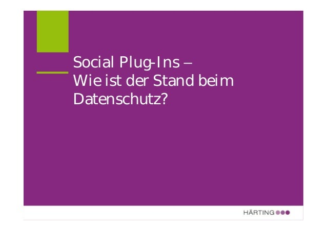 ALLFACEBOOK MARKETING CONFERENCE Like-Button und Social Plug-Ins THILO WEICHERT AM 19. AUGUST 2011 Das ULD weist schon sei...