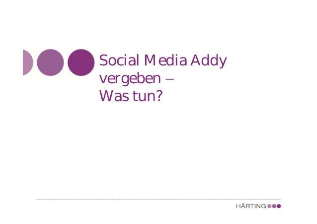 Social Media Addy vergeben – Was tun?
