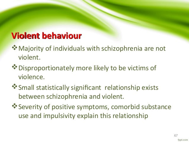 an introduction to the relationship between schizophrenia and crime Crime and schizophrenia many individuals with schizophrenia revolve between gender differences in the relationship of homelessness to symptom.