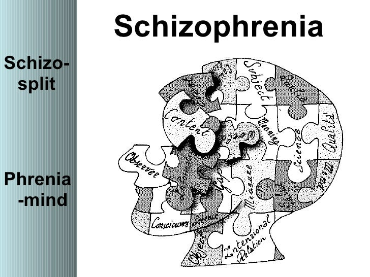 schizophrenia split mind The word schizophrenia—which translates roughly as splitting of the mind and comes from the greek roots schizein (σχίζειν, to split) and phrēn, phren-.
