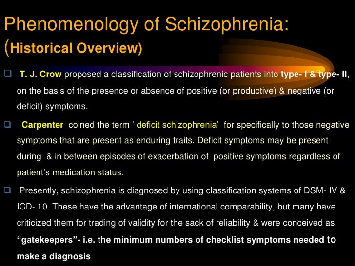 an overview of the schizophrenia mental illness in the world populace Thank you for a wonderful and useful summary i found it succinctly presented the western version of the history of schizophrenia nothing wrong with that, except that the notion that it is.