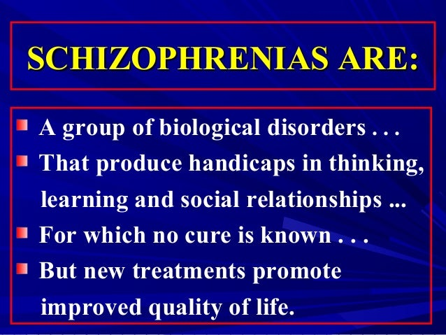 Outline and evaluate biological therapies for Schizophrenia