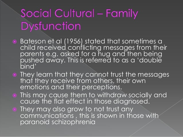 Effects of schizophrenia on families