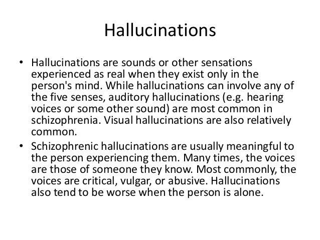 Schizophrenia Auditory Hallucinations