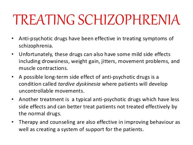 conclusion schizophrenia An introduction to schizophrenia what it is, possible causes, treatment options, long-term prognosis.