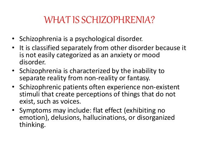 an introduction to the complex disorder of schizophrenia The complex issue of attachment disorders john f alston, md oct 1, 2007 attachment disorders are the effects of significant disruptions in attachment schizophrenia bipolar disorder geriatric psychiatry.